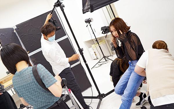 学生モデル撮影の準備